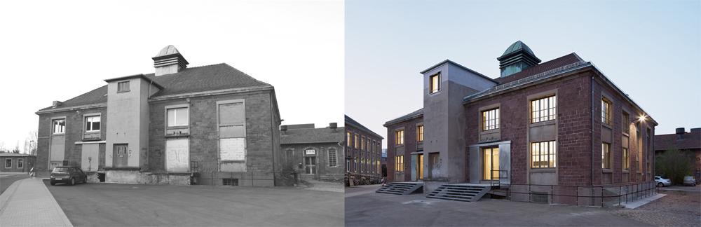 Umbau ehemaliges Pferdeschlachthaus zum Ateliergebäude Alter Schlachthof 27 76131 Karlsruhe  Planung: zwo/elf Alter Schlachthof 15 76131 Karlsruhe www.zwo-elf.de